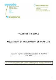 violence a l'ecole mediation et resolution de conflits - Sylvie Castaing