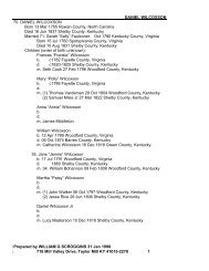 DANIEL WILCOXSON - Genealogy Research Papers