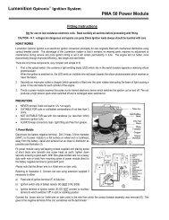 PMA50 Installation Instructions - Newtronic