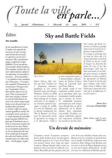le journal d'Itinérances du mercredi 24 mars 2010