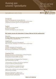 Auszug aus unserer Speisekarte (pdf) - Hotel Waldhorn
