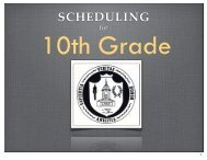 Scheduling for 10th Grade - Ladue School District
