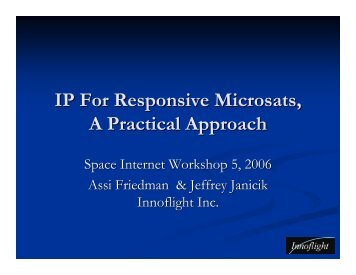 IP For Responsive Spacecraft A Practical Approach