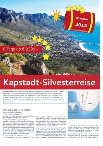 Kapstadt-Silvesterreise - TRAMEX Travel meets experience
