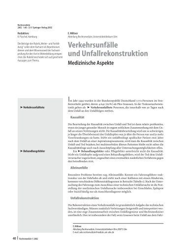 Unfallrekonstruktion Magazine