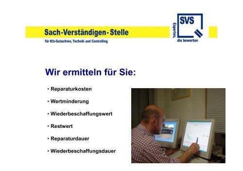 Fall des Falles - SVS - Sach-Verständigen-Stelle - Experten die ...