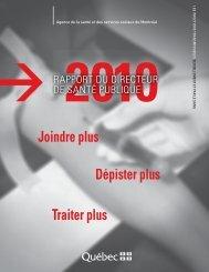 Rapport du directeur de santé publique 2010 - ITSS - Le Devoir