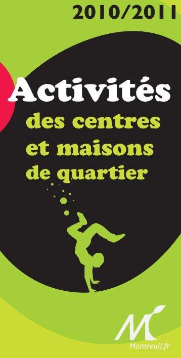 des centres et maisons - Ville de Montreuil
