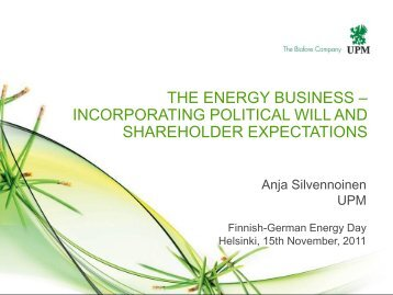 The Energy Business - Finnish-German Energy Day 2012