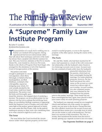 FLSAug07News:Layout 1.qxd - Atlanta - Divorce Lawyer - Family ...