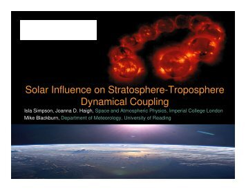 Solar Influence on Stratosphere-Troposphere Dynamical Coupling