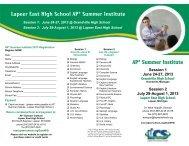 Lapeer East High School AP* Summer Institute