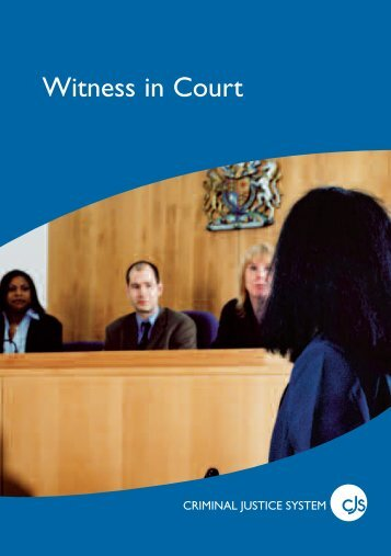 'Witness in court' booklet - Devon & Cornwall Police