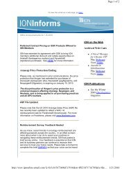 ION Informs: GSK Agreement, Amgen Price Protection, ASP Files ...