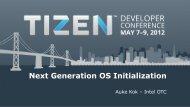 Next Generation OS Initialization