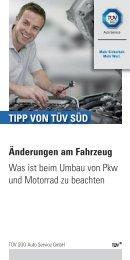 Änderungen am Fahrzeug Was ist beim Umbau von Pkw ... - TÜV Süd
