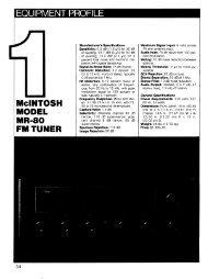 McIntosh MR-80 Review - AllegroSound