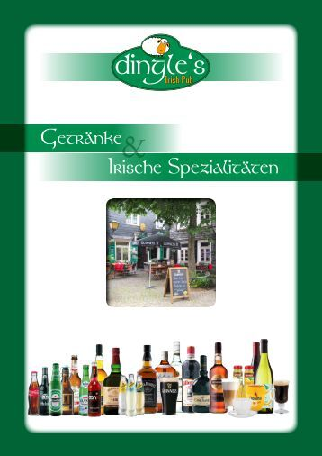 Getränke- und Speise-Karte PDF-download - Dingle`s