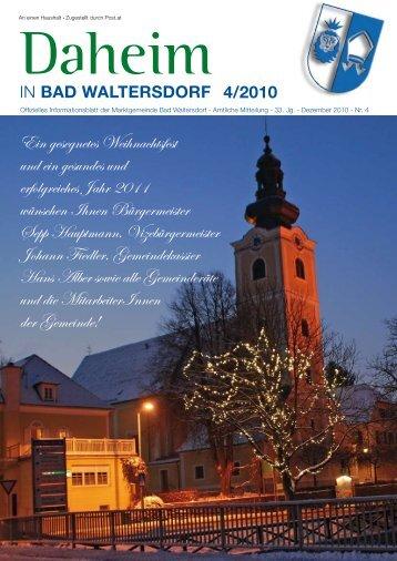 Ausgabe Dezember 2010 - Gemeinde Bad Waltersdorf