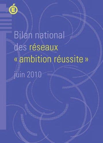 Le bilan national des réseaux « ambition réussite - L'éducation ...