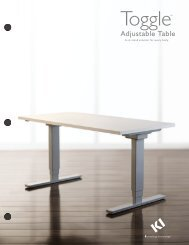 Toggle Adjustable Table Sell Sheet PDF - KI.com