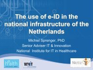 The use of e-ID in the national infrastructure of ... - World of Health IT