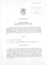 ROZSUDEK JMENEM REPUBLIKY - SÚJB