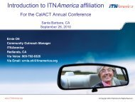 Introduction to ITAAmerica Affiliation - CalACT