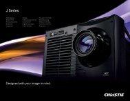 J Series brochure. - Christie Digital Systems