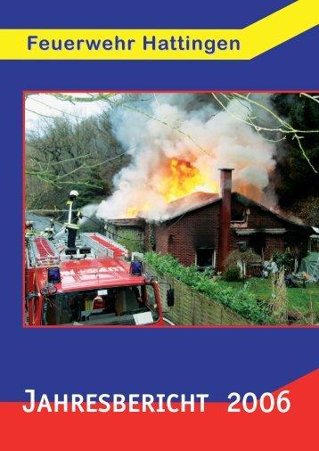 Jahresbericht 2006 - Feuerwehr Hattingen