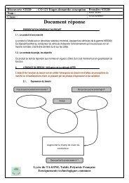 Document réponse - Direction des Enseignements Secondaires