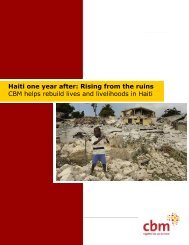 CBM Haiti one year after report