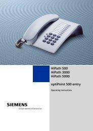 HiPath 500 HiPath 3000 HiPath 5000 optiPoint 500 entry - Hexacom