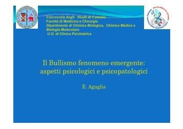 Il Bullismo fenomeno emergente: aspetti ... - USP di Piacenza