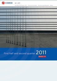 Financial report first half and second quarter 2011 - Comrod