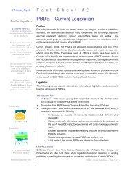 PBDE – Current Legislation - PPRC