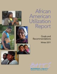 African American Utilization Report - Innovation Grants Program