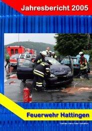 Jahresbericht 2005 - Feuerwehr Hattingen