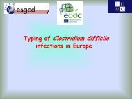 Typing methods for C. difficile - ICDS 2012