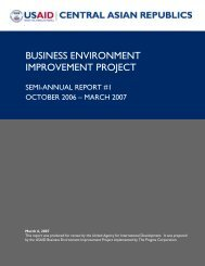 business environment improvement project - Economic Growth - usaid