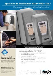 Systèmes de distribution GOJO® PRO™ TDX™ - GOJO Industries, Inc.