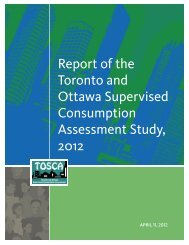 Report of the Toronto and Ottawa Supervised Consumption ...