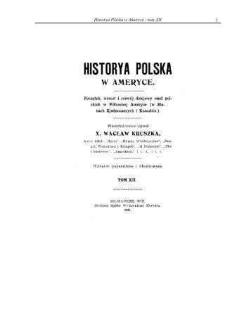 1 Historya Polska w Ameryce - tom XII - Liturgical Center