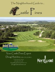Castle Pines - Top Producer® Websites Customer Login