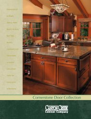View Cornerstone Door Brochure (PDF 3M) - Canyon Creek Cabinet ...