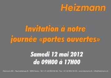 Samedi 12 mai 2012 de 09H00 à 17H00 - Heizmann AG