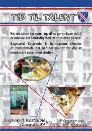 TID TIL TALENT - Bagsværd Kostskole & Gymnasium