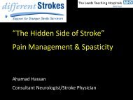 """""""The Hidden Side of Stroke"""" Pain Management ... - Different Strokes"""