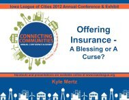Offering Insurance - Blessing or Curse? - Iowa League of Cities
