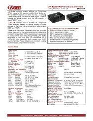 DVI-RGB/YPbPr Format Converters - Tequipment.net